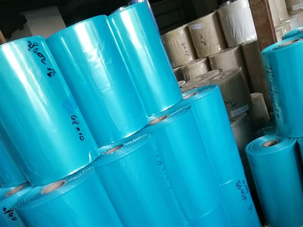 蓝绿色PVC热收缩膜